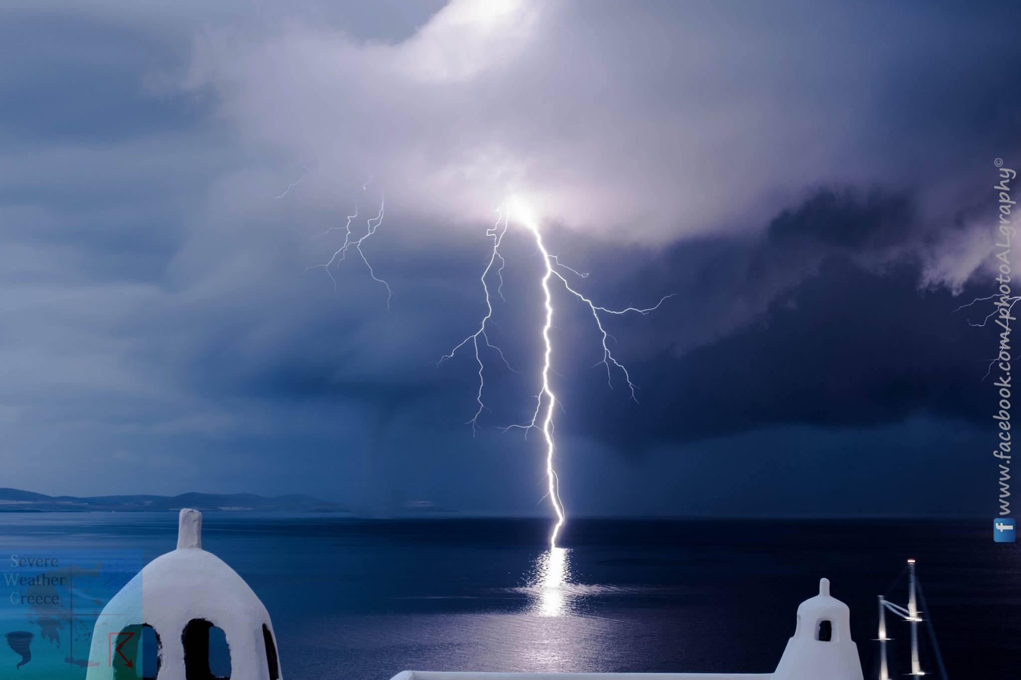 Φωτογραφικό υλικό από τη καταιγίδα στη Μύκονο - 27/05/2017