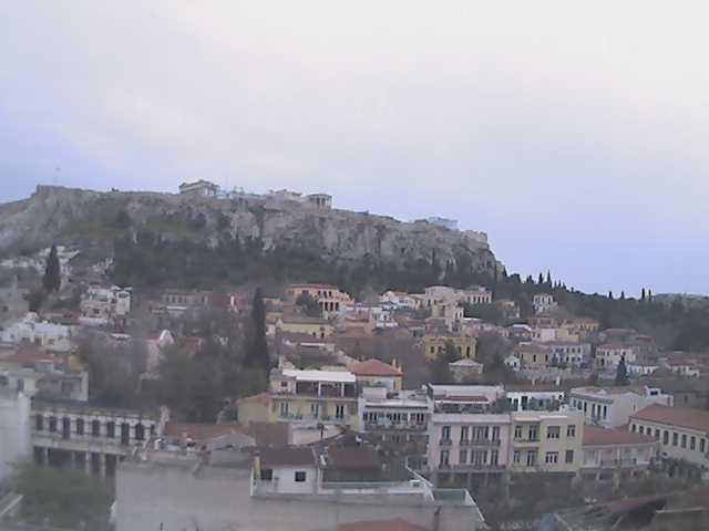 acropolis rain