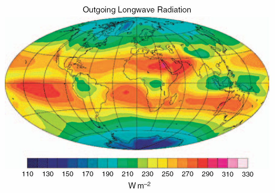 outgoing terrestrial radiation