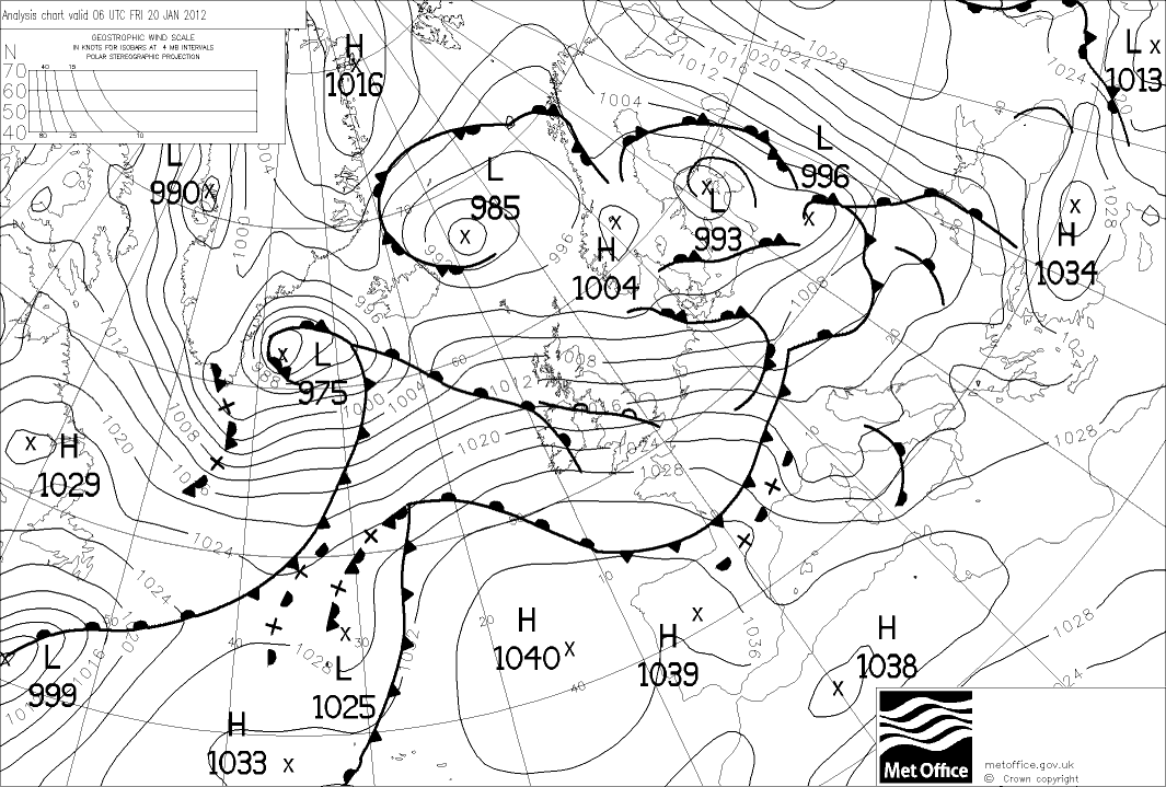 Surface Analysis 20Jan2012 06Z