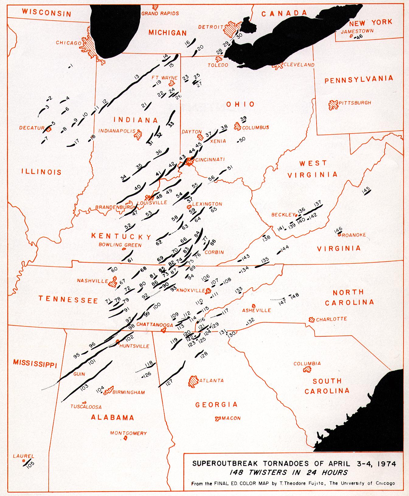Super Outbreak Map